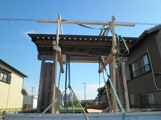 数寄屋門の修理開始_b0232198_16475084.jpg