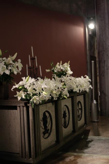 ユリの挙式の装花 東京女子大学、チャペルへ_a0042928_2047427.jpg