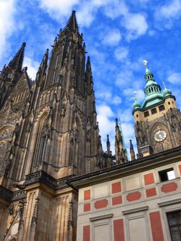中欧家族旅行2012年08月-第九日目-チェコ・プラハ、プラハ城(III)、聖ヴィート大聖堂鐘楼とプラハの眺め_c0153302_29275.jpg