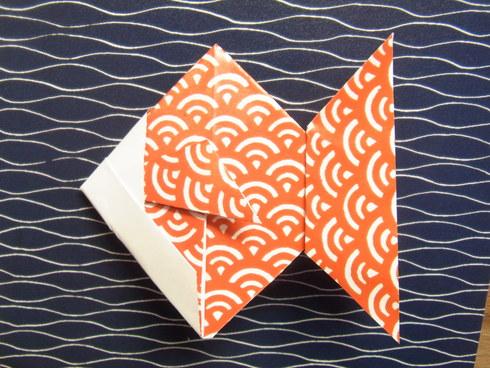 Buone Vacanze a tutti♡ 暑中お見舞い金魚 Origami Ⅶ_b0246303_7502251.jpg