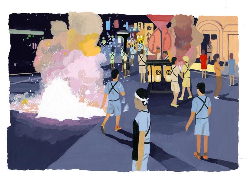 ANA機内誌翼の王国吉田修一連載エッセイ「空の冒険」イラストレーション_c0075725_1223617.jpg