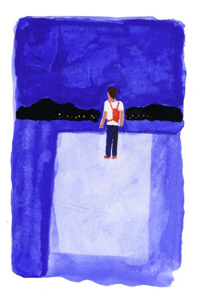 ANA機内誌翼の王国吉田修一連載エッセイ「空の冒険」イラストレーション_c0075725_1226098.jpg