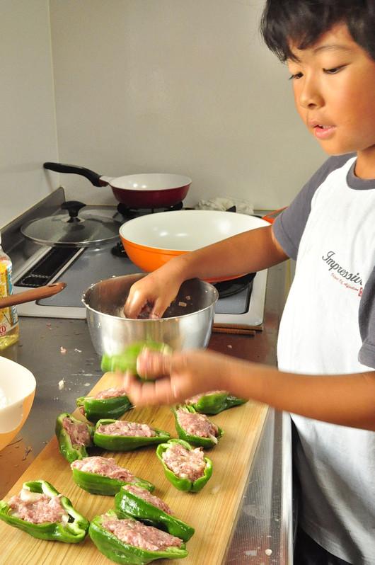 夏休みの朝ごはんと息子の料理_b0171098_1025915.jpg