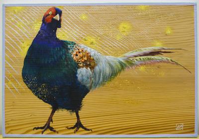 日本画科 板絵の制作〜キジを描く〜完成!_b0107314_1343132.jpg