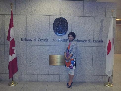 カナダ大使館で食事会_d0148223_2053858.jpg