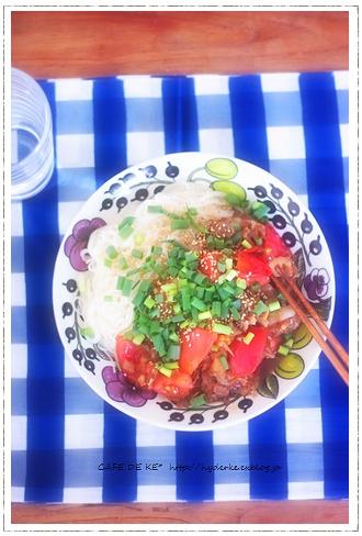 冷やしトマト坦々麺  :9 ♪_e0173666_036297.jpg