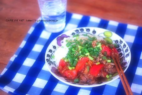 冷やしトマト坦々麺  :9 ♪_e0173666_037094.jpg
