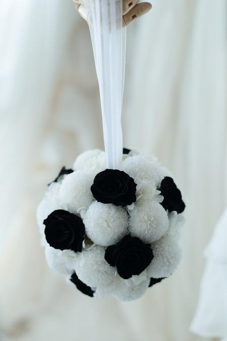 ボールブーケ サッカーボール風 プリザーブドで、二次会へ_a0042928_12325737.jpg