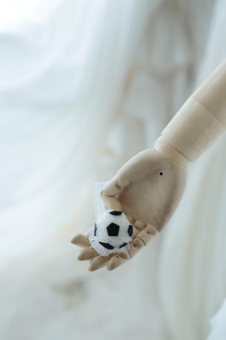 ボールブーケ サッカーボール風 プリザーブドで、二次会へ_a0042928_12333530.jpg