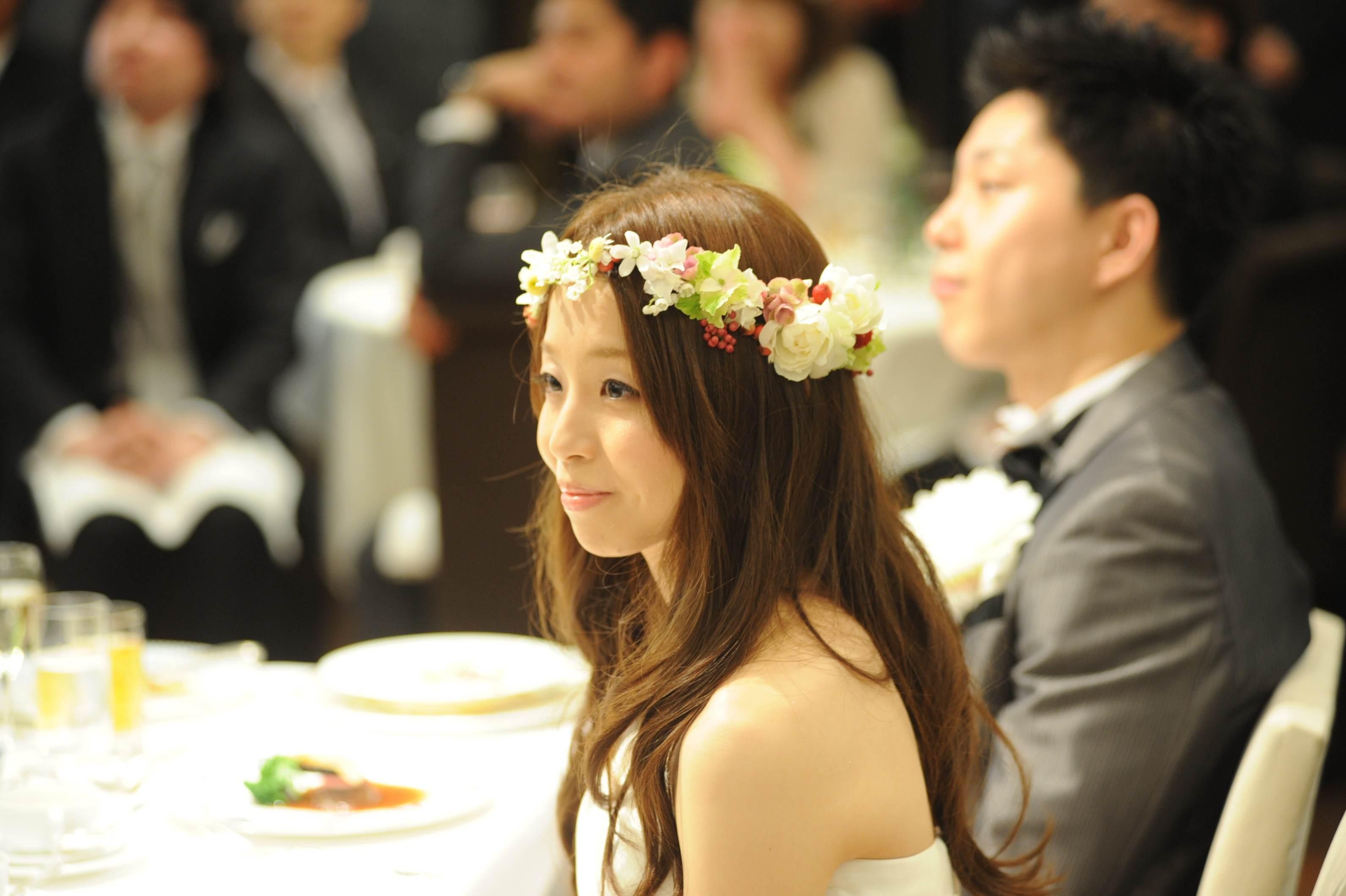 花冠の花嫁様 とある会場様へ 大人テイストのムーミンのような世界観_a0042928_16554175.jpg