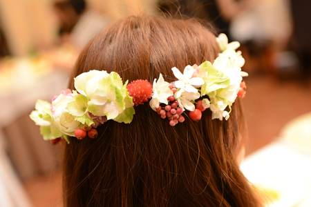 花冠の花嫁様 とある会場様へ 大人テイストのムーミンのような世界観_a0042928_16555375.jpg