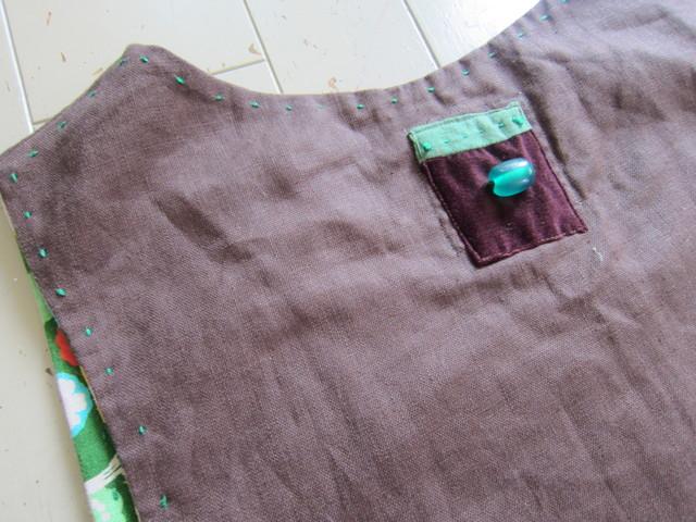 紫の麻ワンピース。。。_b0207631_1494463.jpg