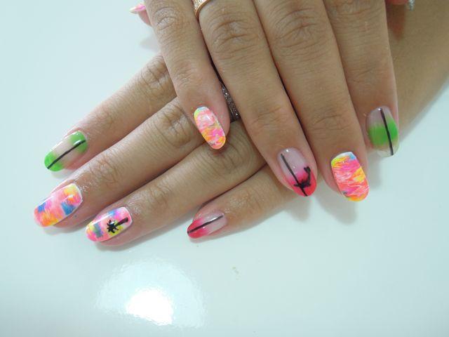 Neon Colorful Nail_a0239065_10542381.jpg
