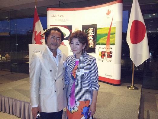 カナダ大使館で食事会_d0148223_3103829.jpg