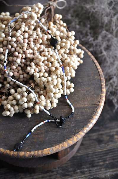 womb Beads & Ball Leather Necklace_d0120442_11165921.jpg