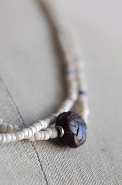 womb Beads & Ball Leather Necklace_d0120442_11244743.jpg