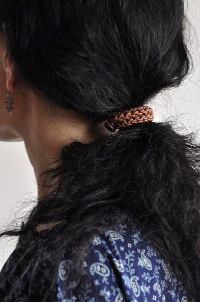 womb Leather Knit Hair Ornament_d0120442_12235469.jpg