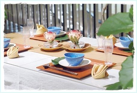 リゾート気分を楽しむテーブル♪ ~空間コーディネートクラス_d0217944_23302353.jpg