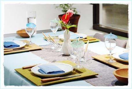 リゾート気分を楽しむテーブル♪ ~空間コーディネートクラス_d0217944_23321035.jpg