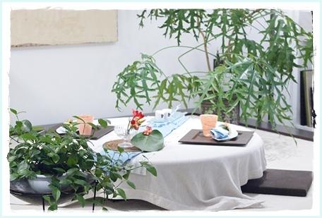 リゾート気分を楽しむテーブル♪ ~空間コーディネートクラス_d0217944_23331254.jpg