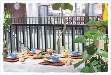リゾート気分を楽しむテーブル♪ ~空間コーディネートクラス_d0217944_23353864.jpg