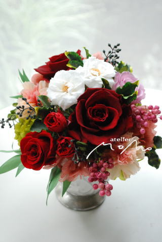還暦のお祝いに 真っ赤なバラを!_a0136507_15413793.jpg