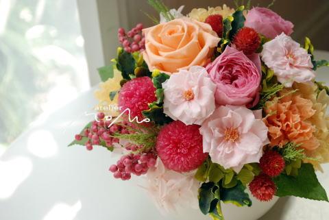 ピンク&オレンジで可愛く♪_a0136507_12193246.jpg