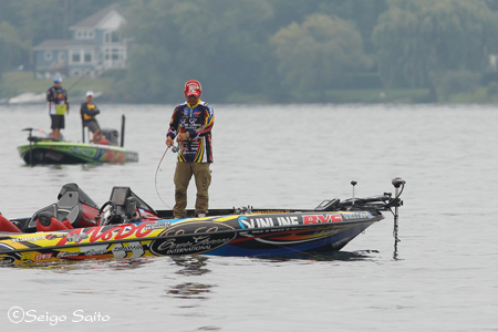 Bassmaster Elite Series #7 St. Lawrence River, NY  日2日目_a0097491_756040.jpg