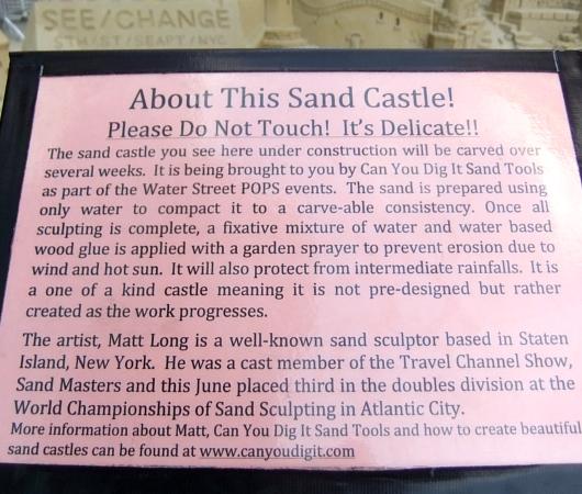 NYの高層ビルの谷間に巨大な砂のお城が登場!!! Water Street Pops!_b0007805_021626.jpg