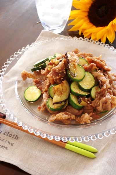 【印刷用】夏野菜とかりかり豚のだし酢和え_d0104926_3836.jpg