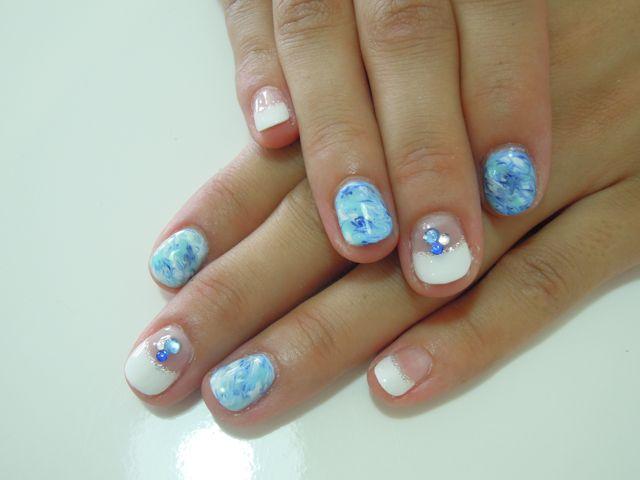 Bule Marble Nail_a0239065_1133537.jpg