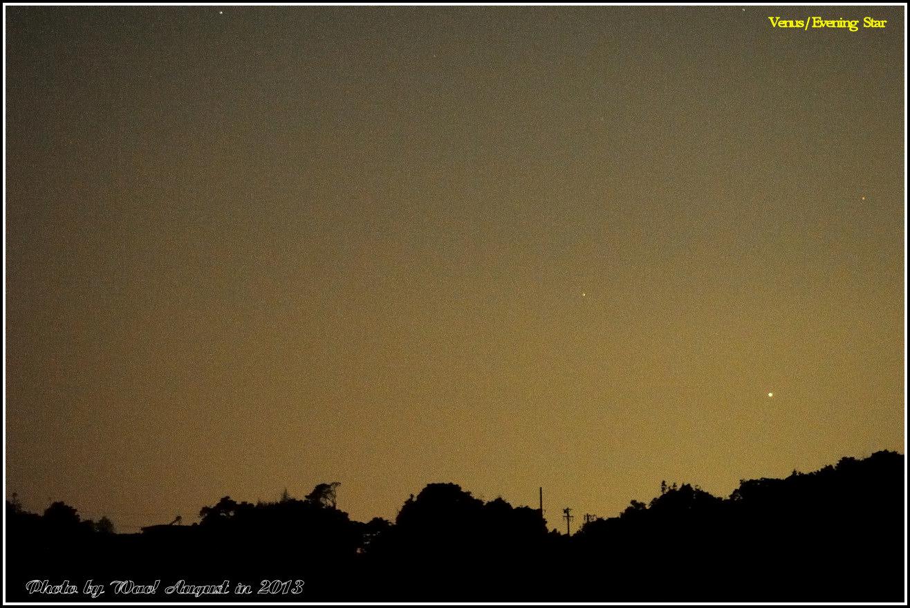 宵の明星と月齢4.5の月_c0198669_2249488.jpg