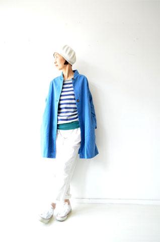ブルーのAラインジャケット_f0215708_14124244.jpg