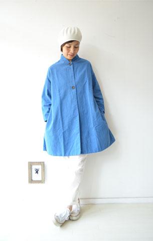 ブルーのAラインジャケット_f0215708_14125166.jpg
