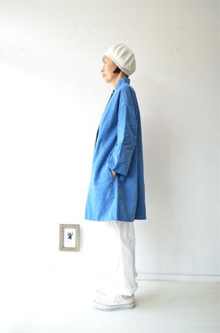 ブルーのAラインジャケット_f0215708_1413141.jpg