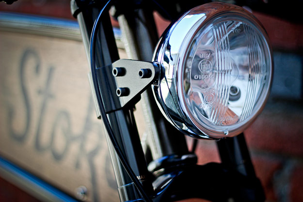 Old Bicycle with Headlight Built In