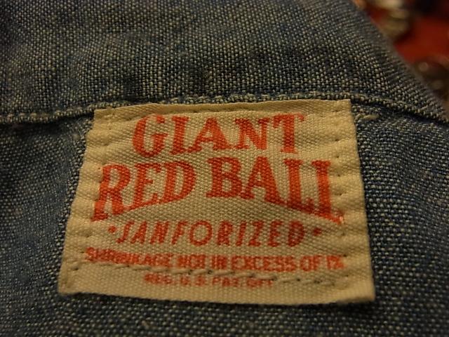 本日入荷!50's GIANT RED BALL シャンブレーシャツ!_c0144020_14524547.jpg