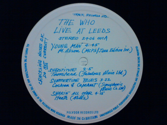 Live At Leeds / The Who_c0104445_003864.jpg