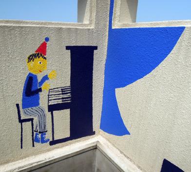 壁画を描こう!「3びきのかめ・1まんねんのぼうけん!」5.5_f0247351_8445991.jpg