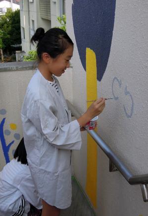壁画を描こう!「3びきのかめ・1まんねんのぼうけん!」⑥_f0247351_905426.jpg