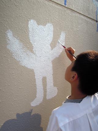 壁画を描こう!「3びきのかめ・1まんねんのぼうけん!」⑥_f0247351_911084.jpg