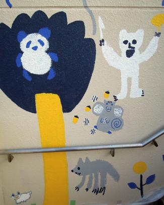 壁画を描こう!「3びきのかめ・1まんねんのぼうけん!」⑥_f0247351_93071.jpg