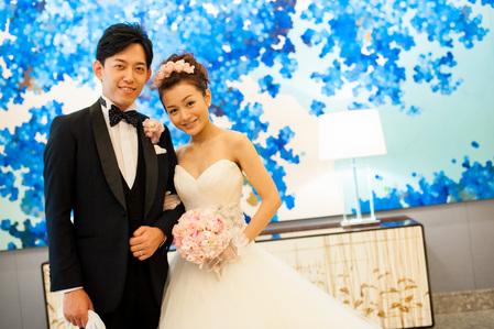 新郎新婦様からのメール フランス人形の花嫁様へのブーケ パレスホテル東京様へ_a0042928_10282636.jpg