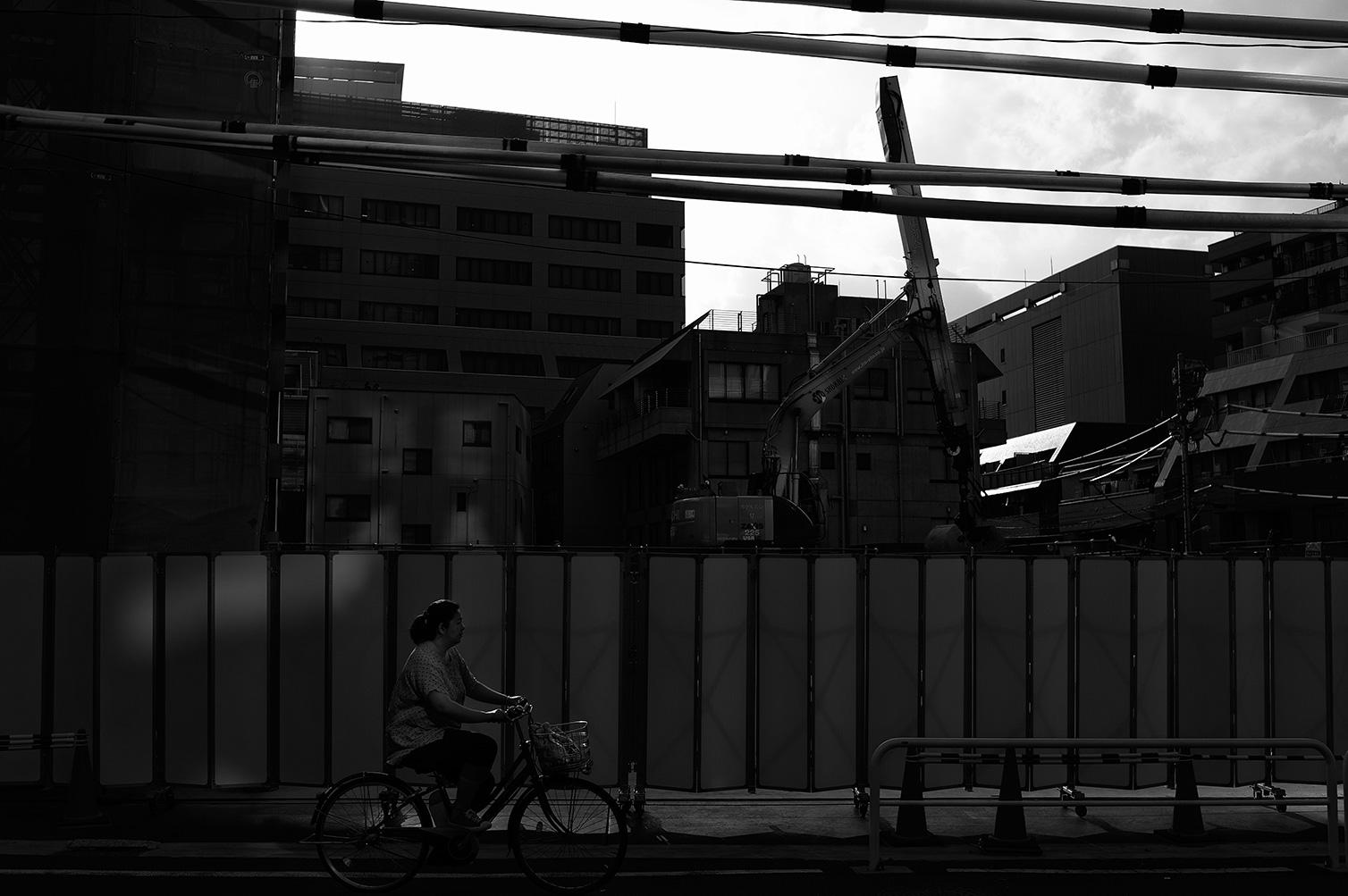 工事現場の夕暮_f0121181_0194833.jpg