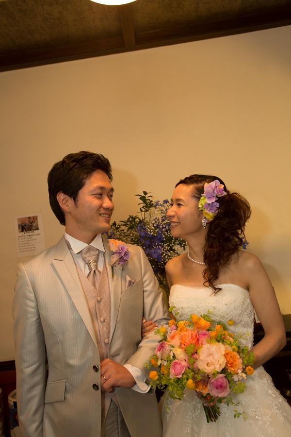 新郎新婦様からのメール いつもから特別へ 横浜霧笛楼様への会場装花とブーケ_a0042928_1913943.jpg