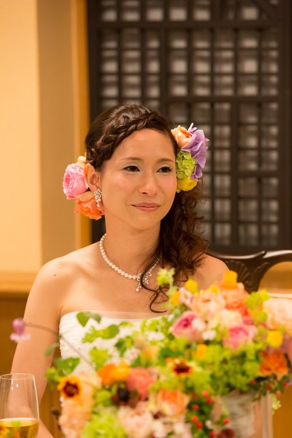 新郎新婦様からのメール いつもから特別へ 横浜霧笛楼様への会場装花とブーケ_a0042928_1915681.jpg