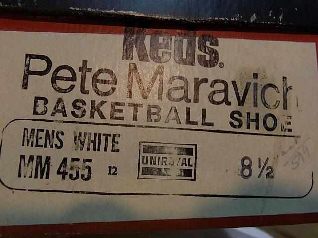 60-70'S デッドストック ピストルーピート PETE MARAVICH CANVAS SHOES_c0144020_199817.jpg