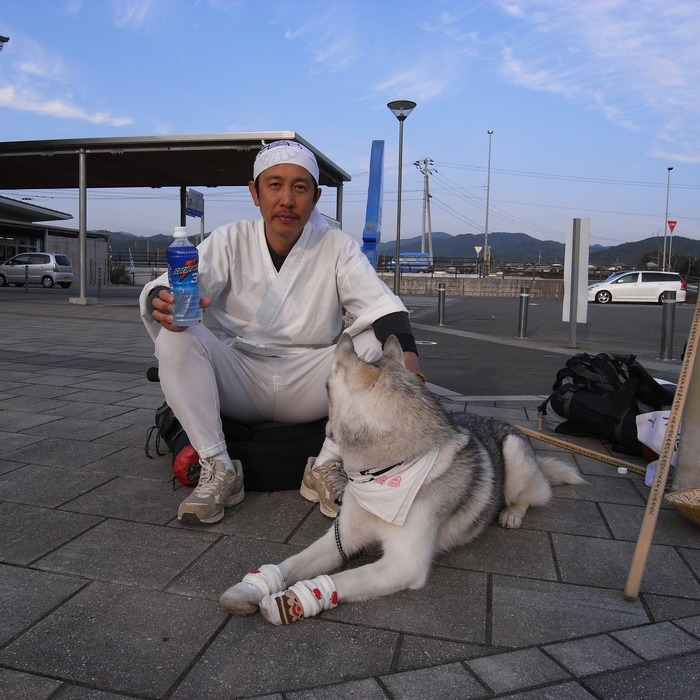 Memory of the second pilgrimage with husky HANA_c0049299_1110792.jpg