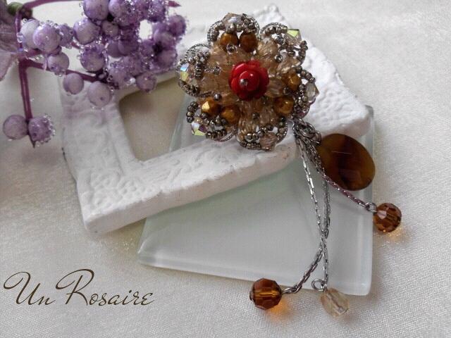 珊瑚の薔薇&カーネリアン..._a0142642_19291376.jpg