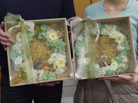 単発プリザーブドレッスン 御両親贈呈用アレンジの種類いろいろ_a0042928_1457357.jpg